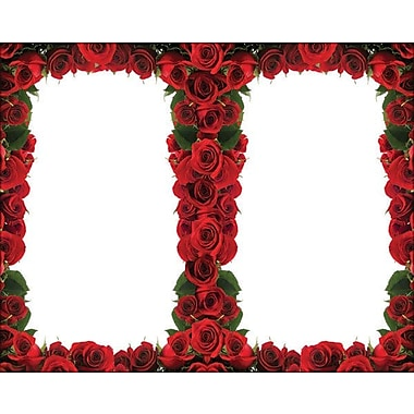 Great Papers® Red Roses Border 2-Up Invitations with Envelopes