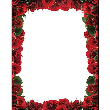 Great Papers® Red Roses Border Letterhead