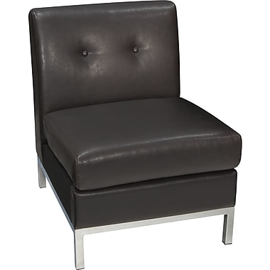 Avenue Six Wall Street Armless Chair, Espresso