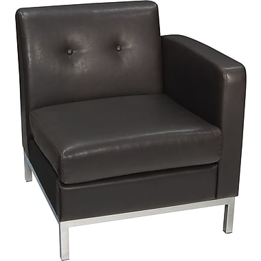 Avenue Six Wall Street Left Arm Facing Chair, Espresso