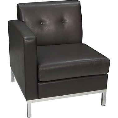Avenue Six Wall Street Right Arm Facing Chair, Espresso