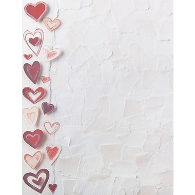 Great Papers® Paper Hearts Letterhead