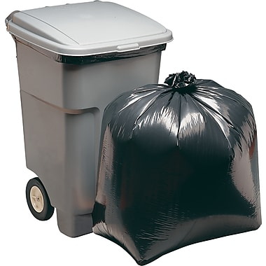 Brighton Professional™ Super Heavy Strength Trash Bags, Black, 45 gal.