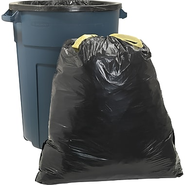 Brighton Professional™ Trash Bags, Drawstring, Black, 33 gal.