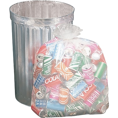 Brighton Professional Trash Bags, Clear, 33 Gallon, 50 Bags/Box