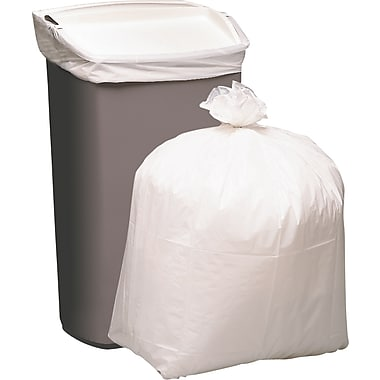 Brighton Professional X-Heavy Trash Bags, White, 13 Gallon, 80 Bags/Box