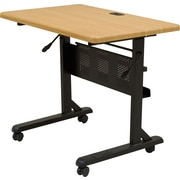 Balt 36'' Rectangular Flip Top Training Table, Maple (89870)