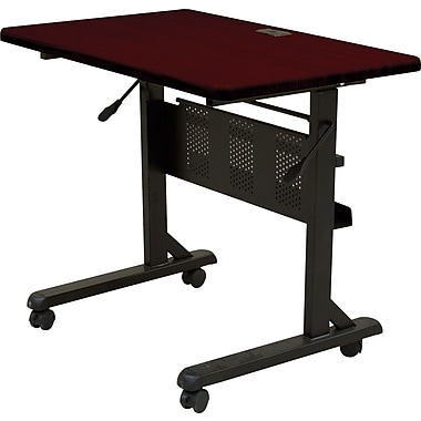Balt 3' Laminate Flipper Training Table, Mahogany