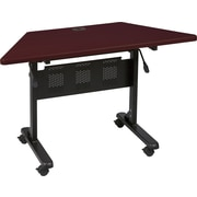 Balt Trapezoid Laminate Flipper Training Table, Mahogany