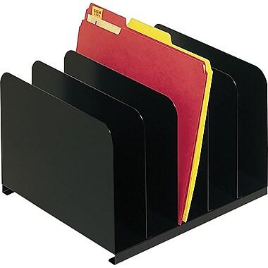 SteelMaster Steel Vertical Organizer, 5 Compartments, Black