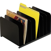 SteelMaster® Steel Vertical Organizer, 8 Compartments, Black