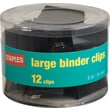 Staples Large Metal Binder Clips, Black, 2in. Size with 1in. Capacity