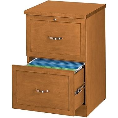 Staples® – Classeur vertical en bois, format légal, 2 tiroirs, cerisier clai
