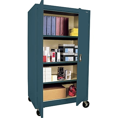 Sandusky Large Mobile Storage Cabinet, 60in.H x 36in.W x 24in.D, Charcoal