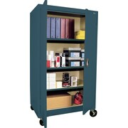 "Sandusky Large Mobile Storage Cabinet, 60""H x 36""W x 24""D, Charcoal"