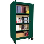 "Sandusky Large Mobile Storage Cabinet, 60""H x 36""W x 24""D, Green"