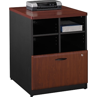 Bush® Cubix 24in. Storage Cabinet, Hansen Cherry/Galaxy, Fully assembled