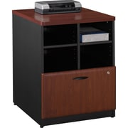 Bush® Cubix 24 Storage Cabinet, Hansen Cherry/Galaxy, Fully assembled