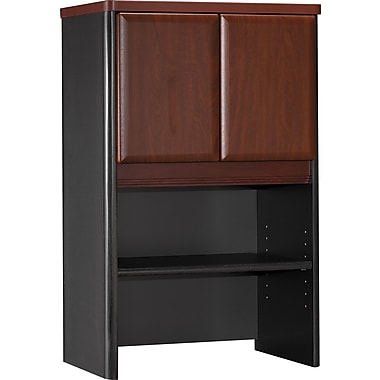 Bush® Cubix 24in. Storage Hutch, Hansen Cherry/Galaxy, Fully assembled