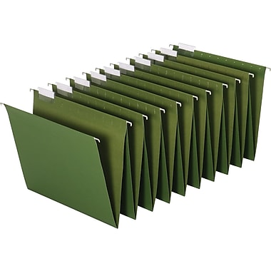 Staples® Hanging Accordion Folders, Letter, 5 Tab, Standard Green, 2 Sets/Pack