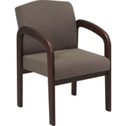 Office Star™ Wood Guest Chair, Espresso Finish Wood with Taupe Fabric