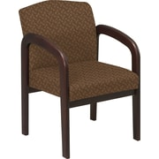 Office Star™ Custom Wood Guest Chair, Espresso Finish Wood with Nugget Fabric