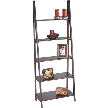 Office Star Wood Ladder Wall Bookcase, Espresso