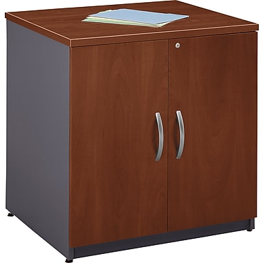 Bush Westfield 30in. Storage Cabinet, Hansen Cherry/Graphite Gray, Fully assembled