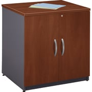 Bush Westfield 30 Storage Cabinet, Hansen Cherry/Graphite Gray, Fully assembled