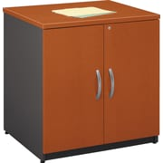 "Bush Westfield 30"" Storage Cabinet, Autumn Cherry and Graphite Gray"