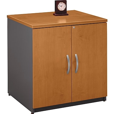 Bush Westfield 30in. Storage Cabinet, Natural Cherry/Graphite Gray, Fully assembled