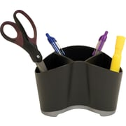 Storex Black Plastic Desk Organizer, (Recycled)