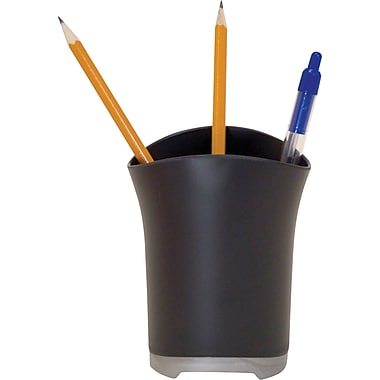Storex Black Plastic Pencil Cup (Recycled)