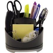 Storex Black Plastic Rotary Organizer (Recycled)