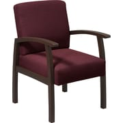 Office Star™ Ruby Fabric with Espresso Finish Wood Guest Chair