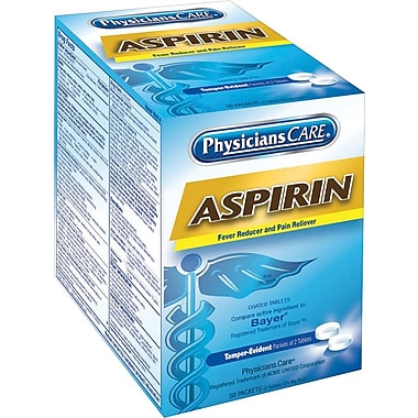 PhysiciansCare Aspirin (Compare to Bayer), 325 mg, 50 Packets/Box