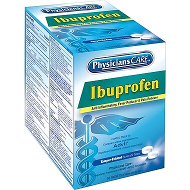 PhysiciansCare® Ibuprofen (Compare to Advil), 200 mg, 50 Packets/Box