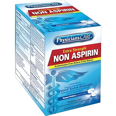 PhysiciansCare® Acetaminophen (Compare to Tylenol), 50 Packets