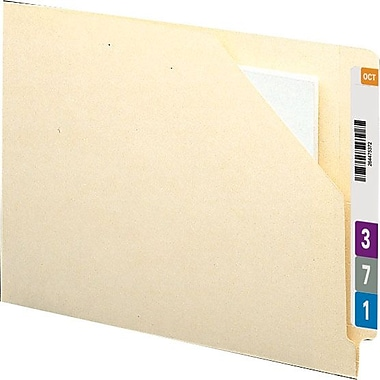 Smead Reinforced End-Tab Manila File Jackets, Letter, Flat Expansion, 100/Box