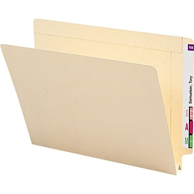 Smead® Reinforced Manila End-Tab Expansion Folders, Letter, 50/Box