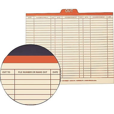 Smead® Top-Tab Manila Pre-Printed Outguides, Legal Size