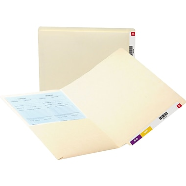 Smead® Antimicrobial End-Tab Pocket Folders, Letter, 50/Box