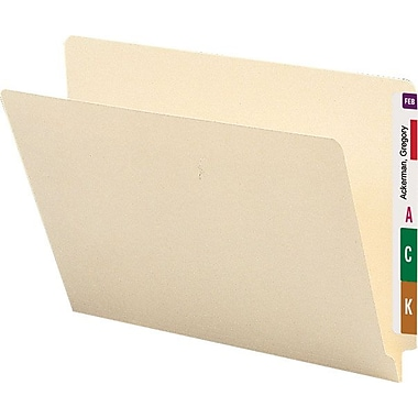 Smead® Manila End-Tab File Folders, Letter, 100/Box