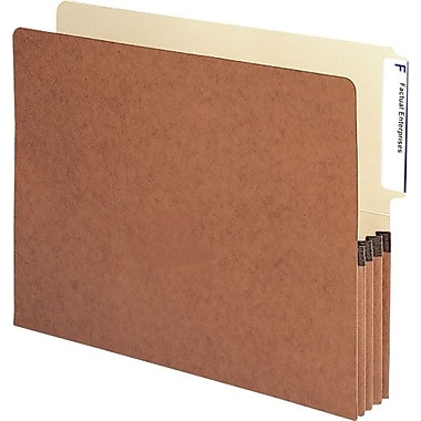 Smead® End-Tab Redrope Expanding File Pockets