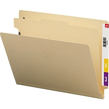 Smead End-Tab Manila Classification Folders, Letter, 1 Partition, 10/Box