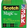 Scotch® Magic™ Tape 810, 1/2 x 36 yds,