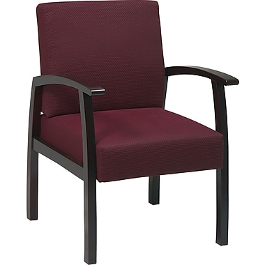 Office Star™ Ruby Fabric with Mahogany Finish Wood Guest Chair