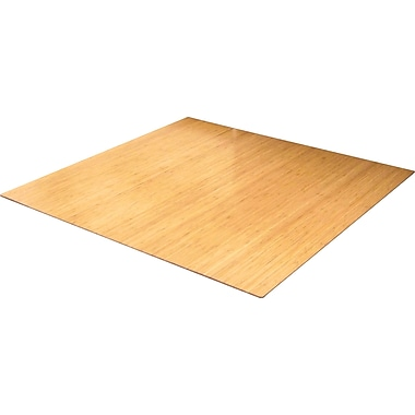 Anji Mountain Roll-Up Bamboo Chair Mat, Rectangular, 52in.x48in., Natural