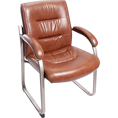 Staples Tillman Chestnut Bonded Leather Guest Chair