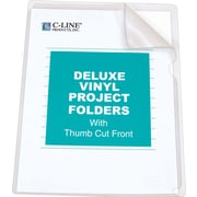 C-Line® Deluxe Super Heavyweight Vinyl Project Folders, Letter Size